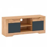 RTV stolek B FIDEL dub craft zlatý/grafit šedá - TempoKondela