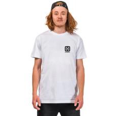 Horsefeathers HANDSHAKE white pánské tričko s krátkým rukávem - M