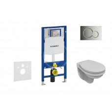 Geberit Sada pro závěsné WC + klozet a sedátko Ideal Standard Quarzo - sada s tlačítkem Sigma01, chrom 111.300.00.5 NR2