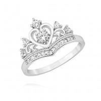 OLIVIE Stříbrný prstýnek KORUNKA 3691 Velikost prstenů: 9 (EU: 59 - 61)