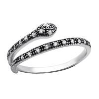 OLIVIE Stříbrný prsten HAD se zirkony 2482 Velikost prstenů: 7 (EU: 54 - 56)