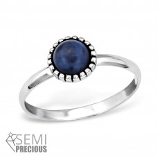 OLIVIE Stříbrný prsten s polodrahokamem SODALIT 0946 Velikost prstenů: 6 (EU: 51 - 53)