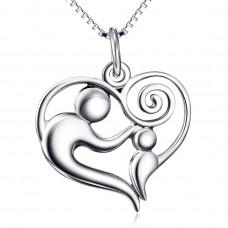 OLIVIE Stříbrný náhrdelník RODINA 4691