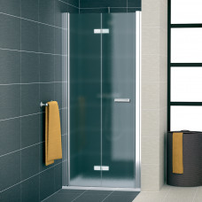SanSwiss SLF1G 1200 50 22 Sprchové dveře dvoudílné skládací 120 cm levé, aluchrom/durlux