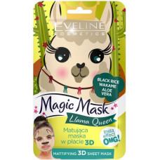 Eveline Magic Mask Llama Queen Mattifying 3D Sheet Mask