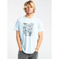 Billabong HELL RIDE smoke blue pánské tričko s krátkým rukávem - M