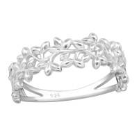 OLIVIE Stříbrný květinový prsten 2751 Velikost prstenů: 6 (EU: 51 - 53)