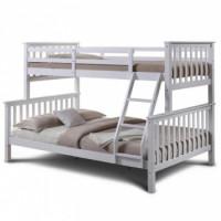 Dětská dvoupatrová postel Bagira bílá - TempoKondela