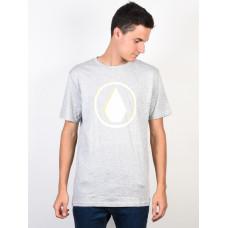 Volcom Burnt HEATHER GREY pánské tričko s krátkým rukávem - S