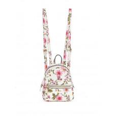 GUESS minibatoh Detail Floral Mini Backpack bílý vel.