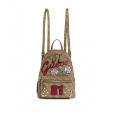 GUESS batoh Urban Sport Leeza Logo Small Backpack hnědý vel.