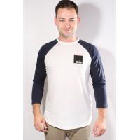 Burton AIR RAGLAN STOUT WHITE pánské tričko s dlouhým rukávem - L