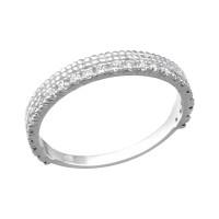 OLIVIE Stříbrný prsten se zirkony 1803 Velikost prstenů: 7 (EU: 54 - 56)