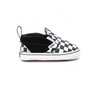 Vans Slip-On V Crib (Checker) Black/TrueWhite dětské letní boty - 19EUR