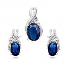 OLIVIE Elegantní sada stříbrných šperků 0748