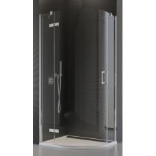 SanSwiss P3PG 50 080 10 07 Sprchový kout čtvrtkruhový 80 cm levý, chrom/sklo
