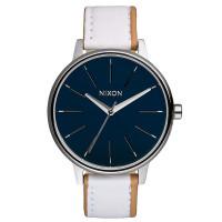 Nixon KENSINGTON LEATHER NAVYWHITE dámské hodinky analogové