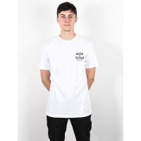 Quiksilver DRUM THERAPY white pánské tričko s krátkým rukávem - XL