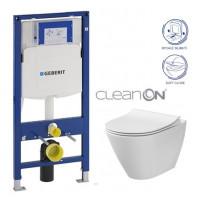 GEBERIT - SET Duofix pro závěsné WC 111.300.00.5 CR + klozet a sedátko CERSANIT CITY CLEANON /K35-025+K98-0146/ (111.300.00.5 CI1)