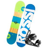 Rossignol Scan +Rookie BLUE/WHITE dětský snowboardový set - 100