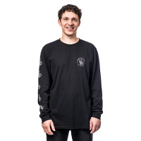 Horsefeathers ERISS ATRIP black pánské tričko s dlouhým rukávem - S