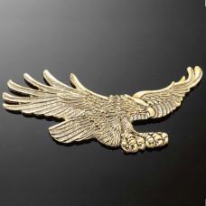 Emblém samolepící, Highway Hawk EAGLE 155x70mm (orel), mosaz - Zlatá - Highway Hawk HWH 01-302