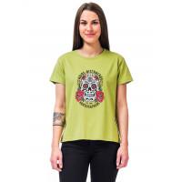 Horsefeathers MEXICANA linden green dámské tričko s krátkým rukávem - S