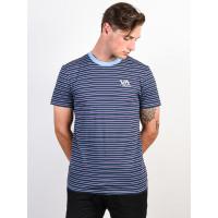 RVCA VA RVCA STRIPED DEJA BLUE pánské tričko s krátkým rukávem - M