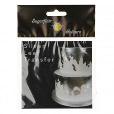 Sugarflair Transfer Stříbrný plát Jedlé stříbro 8x8 cm