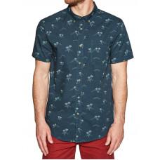 Billabong SUNDAYS MINI DARK ROYAL pánská košile krátký rukáv - M