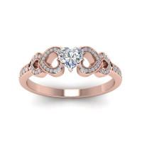 OLIVIE Stříbrný prsten SRDCE ROSE 4227 Velikost prstenů: 5 (EU: 47 - 50)