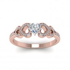 OLIVIE Stříbrný prsten SRDCE ROSE 4227 Velikost prstenů: 7 (EU: 54 - 56)
