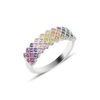 OLIVIE Stříbrný prsten COLORS 2546 Velikost prstenů: 7 (EU: 54 - 56)