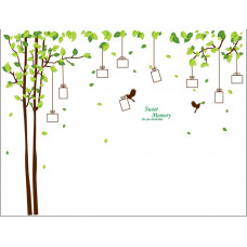 Samolepka Dárkový strom vzpomínek - 2 barvy Barva: Hnědý