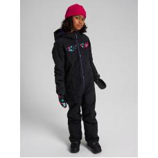 Burton GAME PIECE ONE PIECE TRUBLK/FLRPWR dětská zimní bunda - S