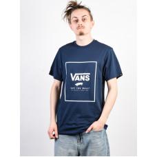 Vans PRINT BOX DRESS BLUES/WHITE pánské tričko s krátkým rukávem - S