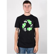 Etnies Recycle Sk8 black pánské tričko s krátkým rukávem - XL