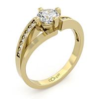 Couple Zlatý dámský prsten Tilde 6610277 Velikost prstenu: 56