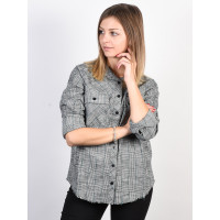 RVCA ANSWERED Vintage White dámská košile dlouhý rukáv - S