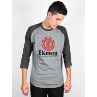 Element VERTICAL RAGLAN grey heather pánské tričko s dlouhým rukávem - XL