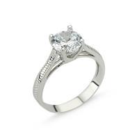 OLIVIE Stříbrný solitérní prsten se zirkonem 1267 Velikost prstenů: 9 (EU: 59 - 61)