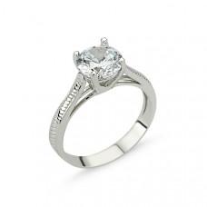 OLIVIE Stříbrný solitérní prsten se zirkonem 1267 Velikost prstenů: 6 (EU: 51 - 53)
