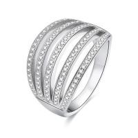 OLIVIE Stříbrný široký prsten 5140 Velikost prstenů: 8 (EU: 57-58)