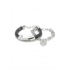GUESS náramek Hematite-Tone Mesh ID Bracelet vel. P2092399716A