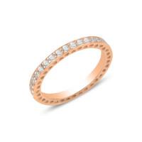 OLIVIE Stříbrný prsten ROSE 3177 Velikost prstenů: 8 (EU: 57 - 58)