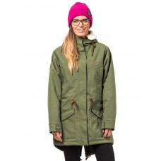 Horsefeathers MICA olive melange zimní bunda dámská - XS