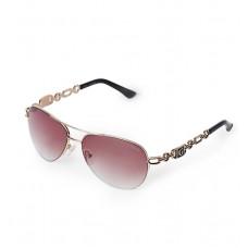 GUESS brýle Chain Detail Aviator hnědé vel.