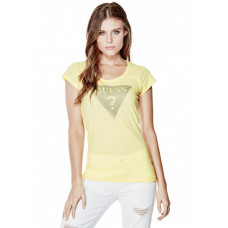 GUESS tričko Tracy Stone Tee žluté vel. XS