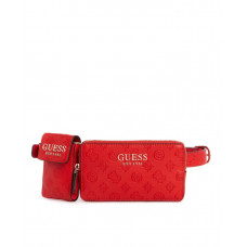 GUESS ledvinka Ilenia Pocket Belt Bag červená vel.