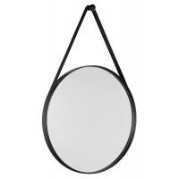 SAPHO - ORBITER zrcadlo kulaté s páskem, ø 70cm, černá mat (ORB070)